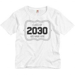 Custom Kids Class Of 2030