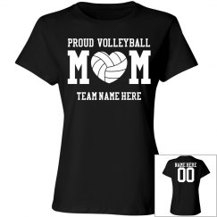 Custom Proud Volleyball Mom