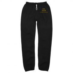UNISEX CREW LONG SCRUNCH SWEATPANTS NOTHING ON BACK