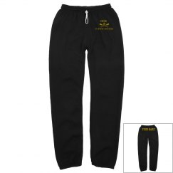 UNISEX  CREW LONG SCRUNCH SWEATPANTS NAME ON BACK