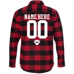 Football Girlfriend Fall Fashion Flannel Shirts
