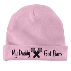 Daddy got bars baby beanie