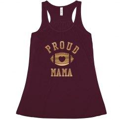 Proud Football Mama Gold Metallic