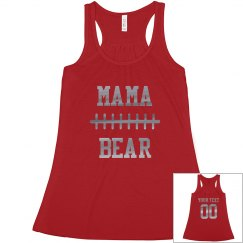 Football Mama Bear Custom Number