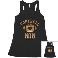 Custom Metallic Football Mom
