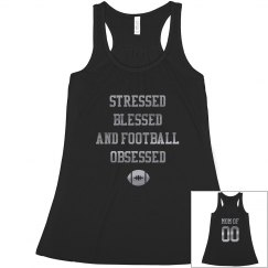 Stressed Blessed Football Mom