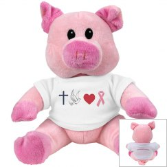 faithhopelovepink-pink pig mascot