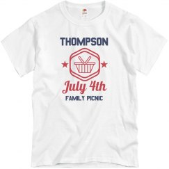 Custom Family July 4th Reunion Tee