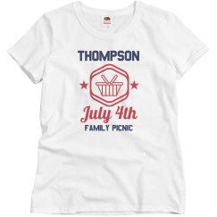 Custom Ladies July 4th Reunion Tee