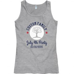 Custom Family Tree July Fourth Tank Top