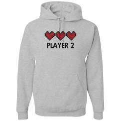 Player 2 Video Game Hearts