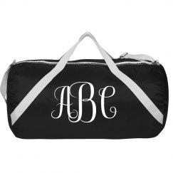 Custom Monogram Duffel Bag