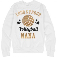 Metallic Loud Proud Volleyball Nana