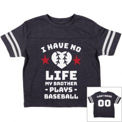 Custom Cute Baseball Sibling Tee