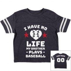 Custom Cute Baseball Sibling Tee