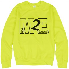 Move To Empower Unisex Neon Crewneck Sweatshirt