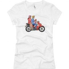 Girls Junior T Shirt - Family Bike Ride