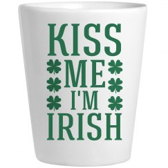 Kiss Me St Pattys Shot Glass