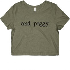 Hamilton And Peggy Crop Top