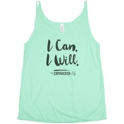 I Can. I Will.  flowy scoop tank