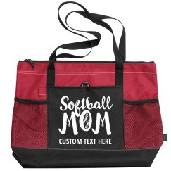 Softball Mom Custom Tote Bag