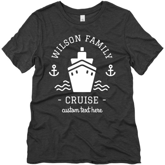 ca2f17da804 Custom Family Vacation Cruise Tees Ladies Relaxed Fit T-Shirt
