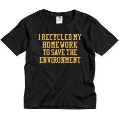 Child's Environmental Homework
