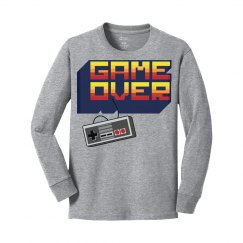 Game Over with Gaming Controller Long Sleeve Tee