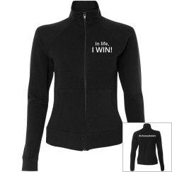 Snug Black Jacket w/ White Letters