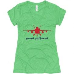 Ladies Slim Fit Super Soft Triblend V-Neck Tee