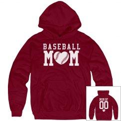 Baseball Mom Hoodies You Can Customize!