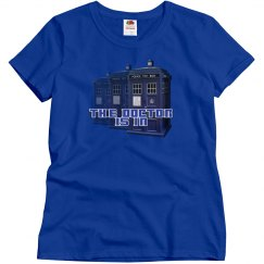 The Doctor Police Box Ladie's Tee