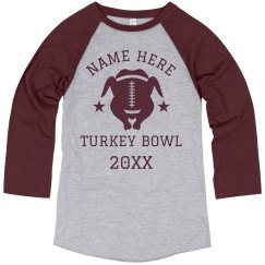 Custom Name Turkey Bowl