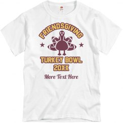 Custom Friendsgiving Turkey Bowl