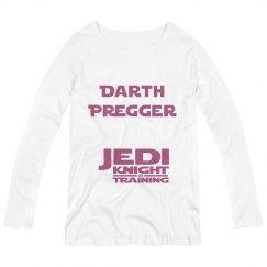 Darth Pregger with Jedi Knight Training Maternity Tee