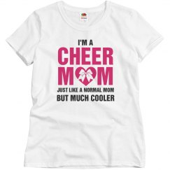Cheer Mom Heart Bow