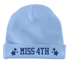 Miss Fourth of July Baby Hat