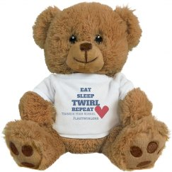 Eat Sleep Twirl Repeat Teddy Bear