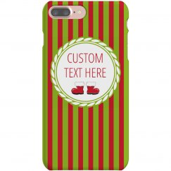 Holiday Christmas Striped Custom