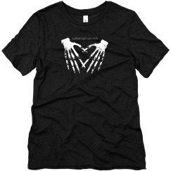Skeleton Heart Hands Tee