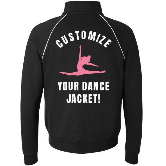 2852989e4 Custom Dance Jackets! Unisex Full Zip Fleece Track Jacket