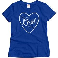 Cheer Mom Heart Royal