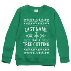 Youth Tree Cutting Ugly Sweater
