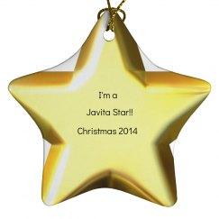 Javita star ornament 1