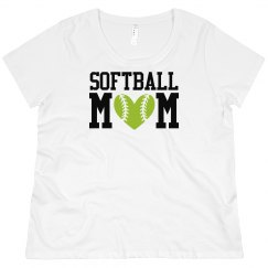 Softball Mom Curvy Tee