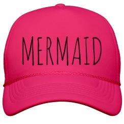 Trendy Neon Mermaid Girl