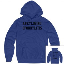 AS IT'S GOT MY BACK HOODIE BLUE