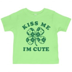 Kiss Me I'm Cute Toddler Tee
