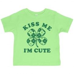 Kiss Me I'm Cute Toddler Tee