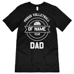 Proud Personalized Volleyball Dad